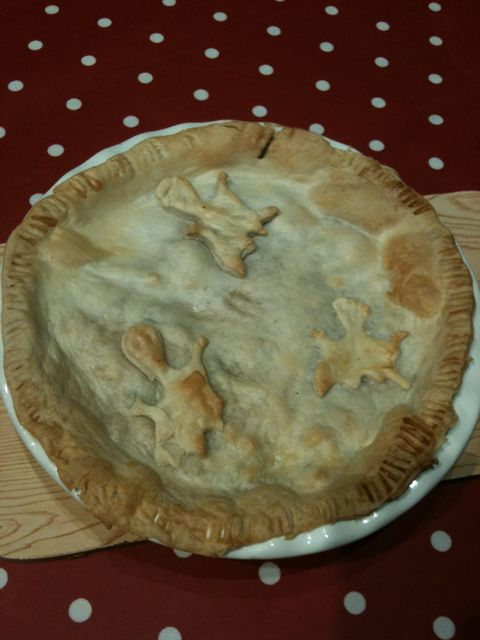 Spooky chicken pie