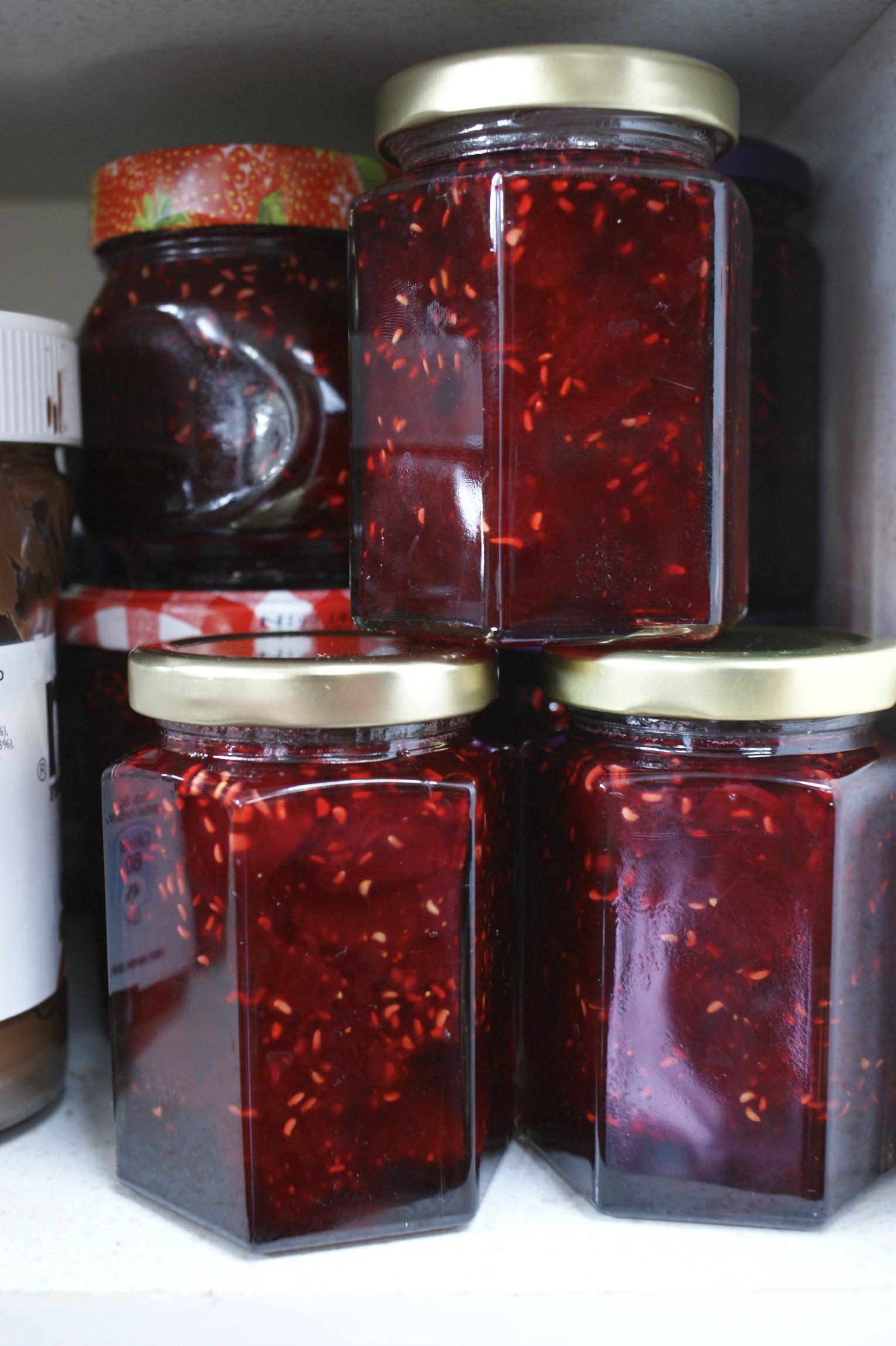 Cherries and berries jam