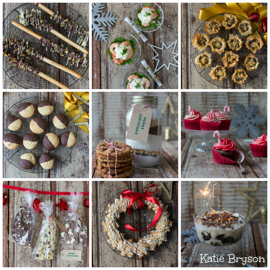 Good Food Channel Christmas recipes by Katie Bryson collage