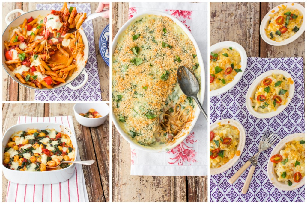 Pasta bakes for the Good Food Channel website