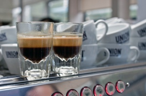 My first espresso attempt (photo by Simon Kimber)