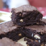 Chocolate, hazelnut and cardamom brownies