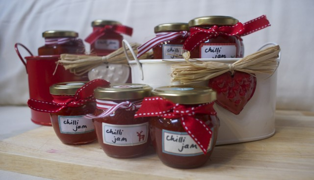 chilli jam packaged up