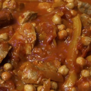 Pork, chickpea and chorizo stew
