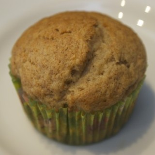 banana muffin close up