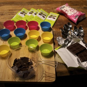 the kit for making hot chocolate spoons