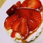 Individual strawberry tartlet