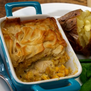 Spring turkey pot pie
