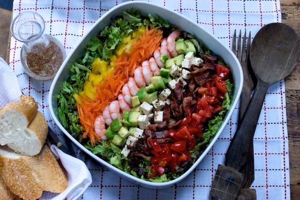American-style chopped salad