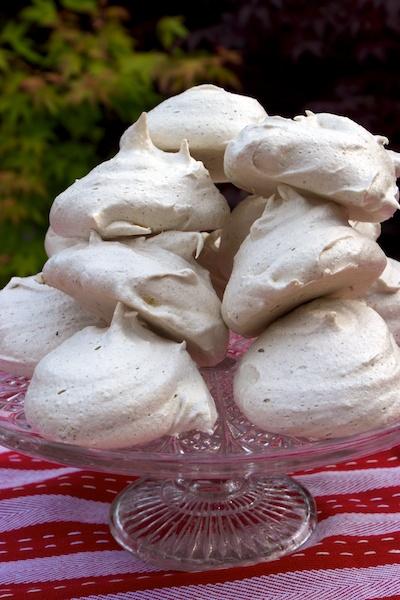 pile of espresso meringues