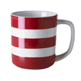 Cornishware red mug 10oz
