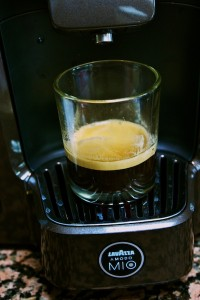 shot of Lavazza espresso