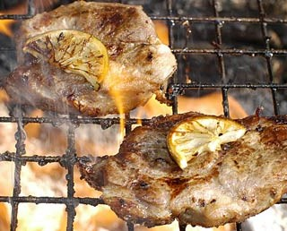 Pork steak on the barbecue