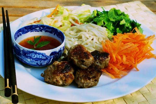 Vietnamese turkey noodle salad