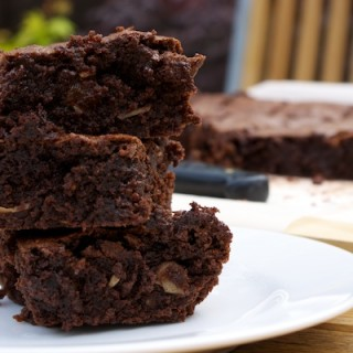 Chunky chocolate brownies for Father's Day