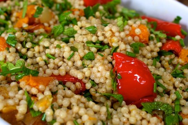 Giant couscous salad
