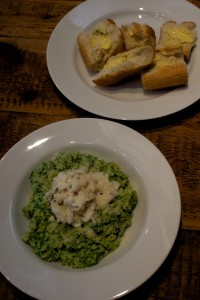 Spinach and haddock risotto