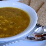 Leek, carrot and sweetcorn soup