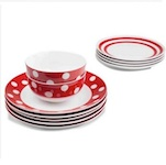 Spotty table ware from The Range