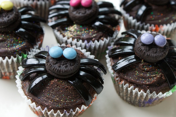 spider cupcakes on Parentdish