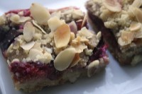 plum and almond crumble slices