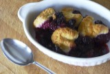 blackberry and lavender cobbler