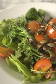 Tenderstem-Broccoli-Salad-with-semi-confit-tomatoes