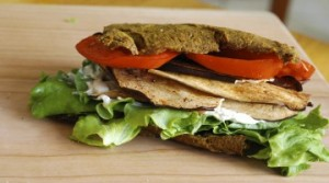 Curried kabocha squash flatbread