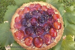 refreshing plum tart