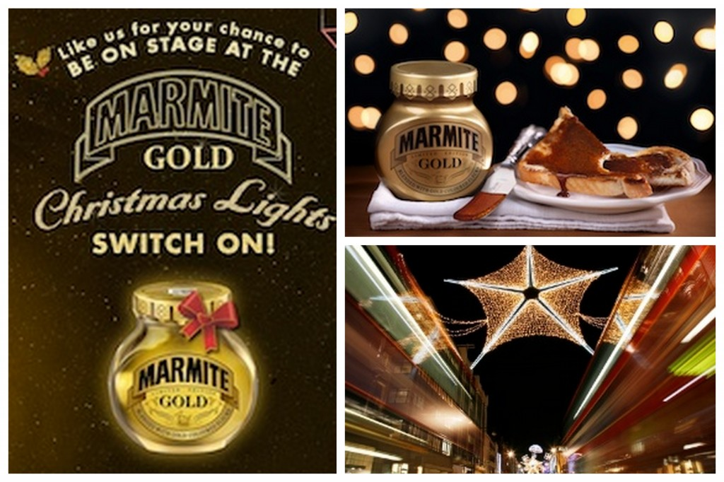 Marmite Gold and the Oxford St Xmas lights switch on