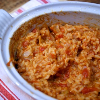Cheese and tomato baked risotto