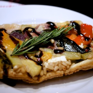 Roasted vegetable tart tatin from Feeding Boys