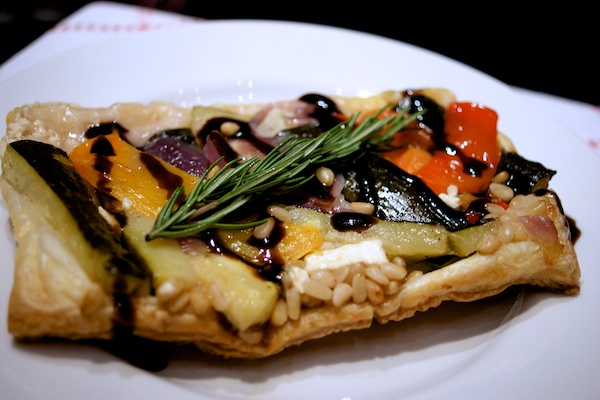 Roasted vegetable tart tatin from Feeding Boys