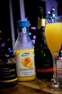 Orange and ginger bucks fizz
