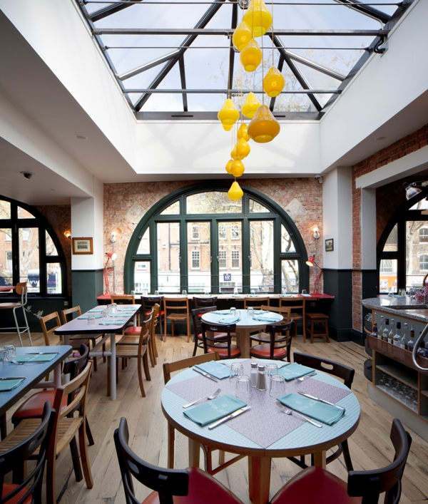 Jamie Oliver's Union Jacks restaurant in Chiswick