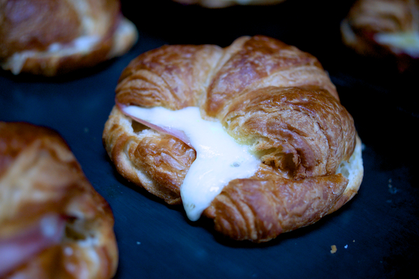 Cheese and ham croissants - easy kids lunch