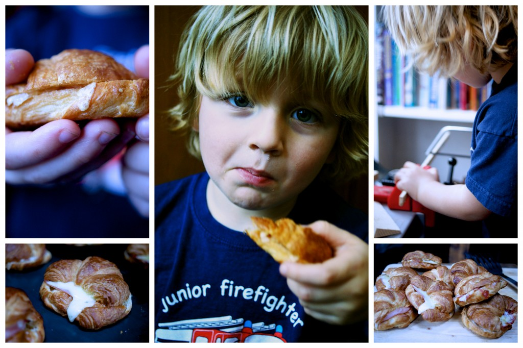 Savoury croissants - great for kids lunches]