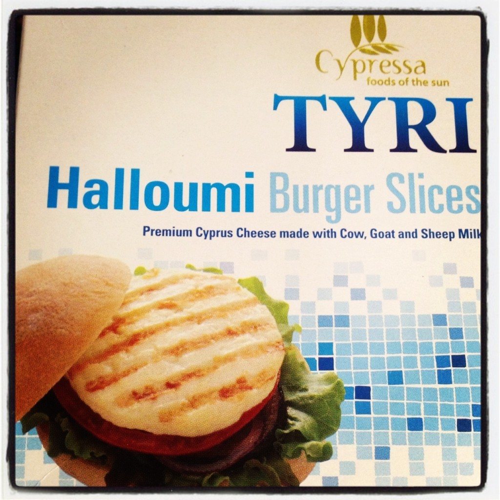 Halloumi burger slices