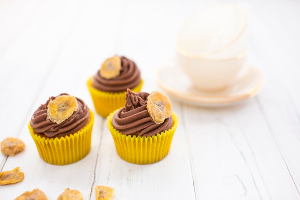Banana chocolate cupcakes - photo by Sharron Gibson
