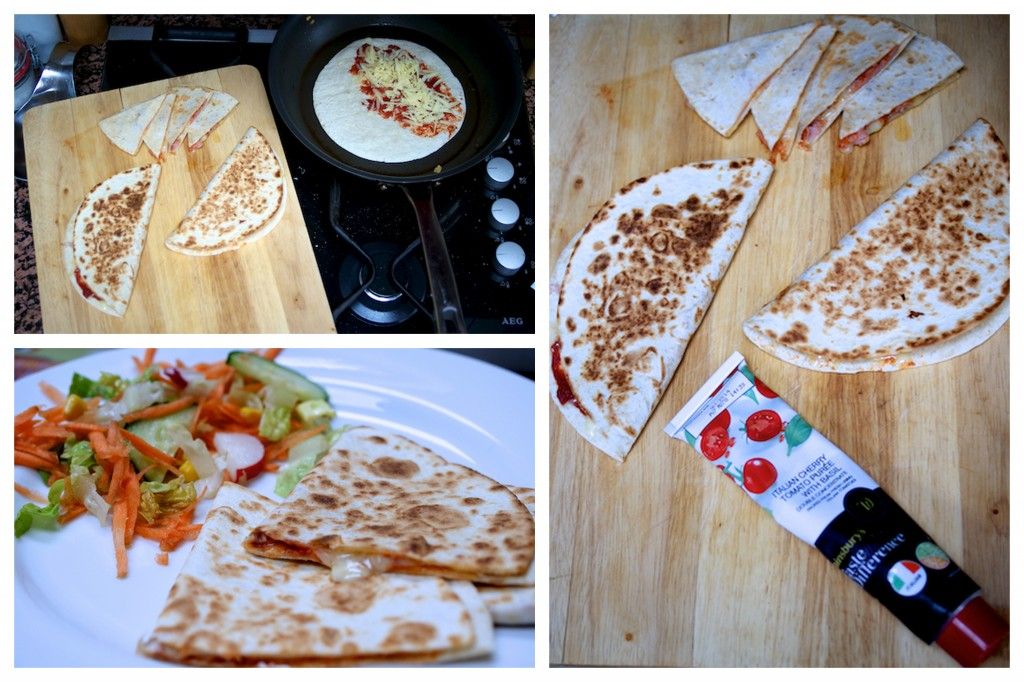 Making speedy quesadillas