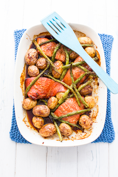 Roasted honey and soy salmon - photo by Sharron Gibson
