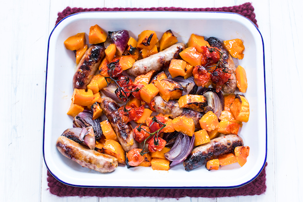 Sweet chilli sausage and butternut bake - photo by Sharron Gibson