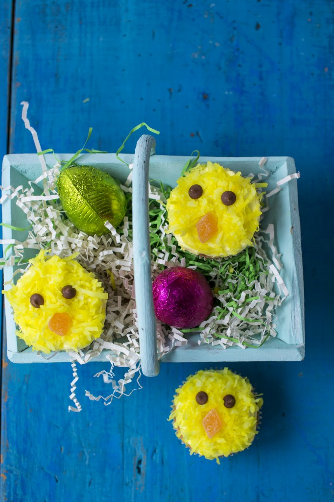 Easter chick cupcakes - photo by Sharron Gibson for UKTV