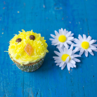 Fluffy Easter chick cupcake - photo by Sharron Gibson