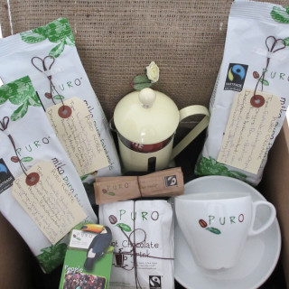 Win Puro Fairtrade coffee gift pack