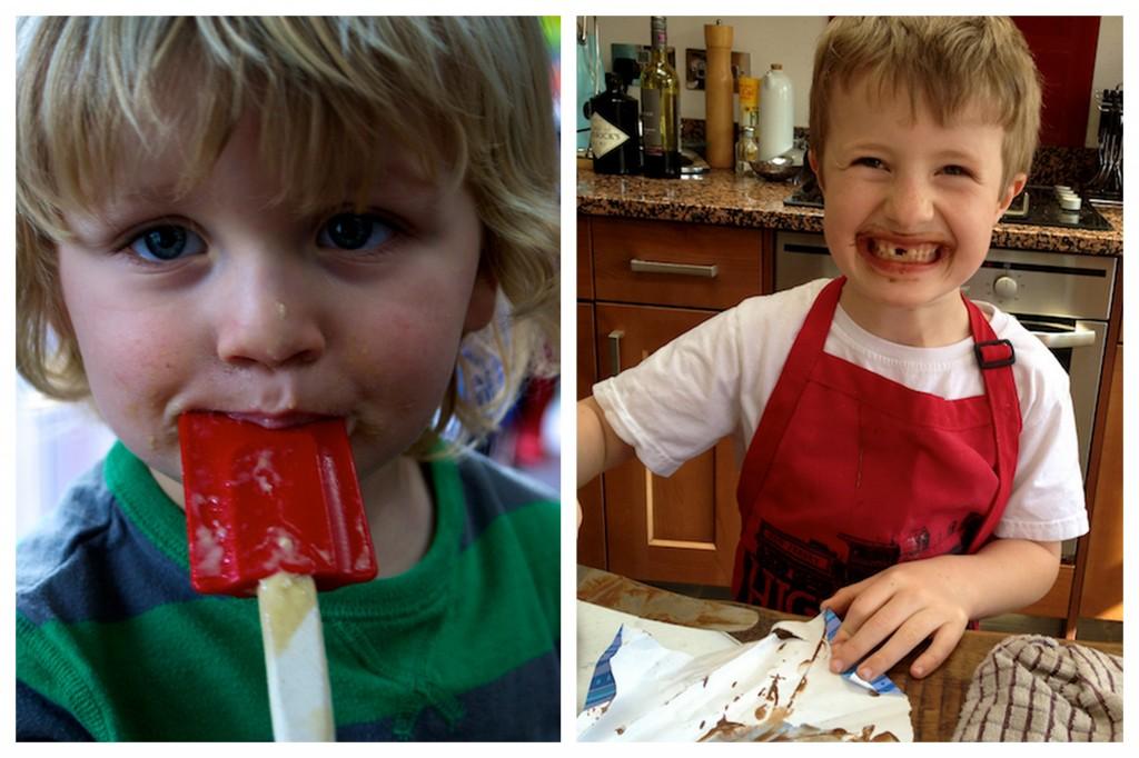 The Feeding Boys kitchen helpers