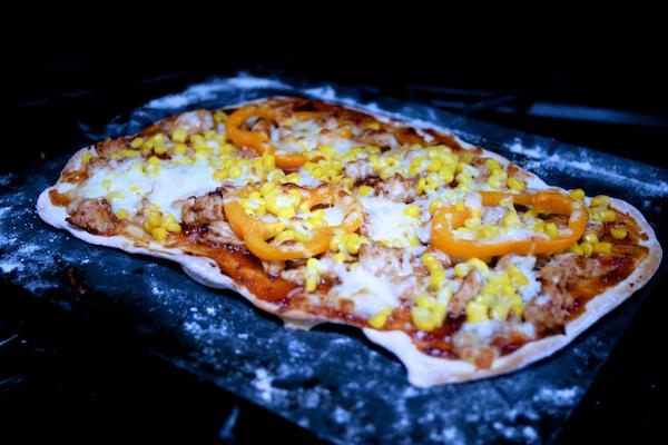 barbecue turkey pizza