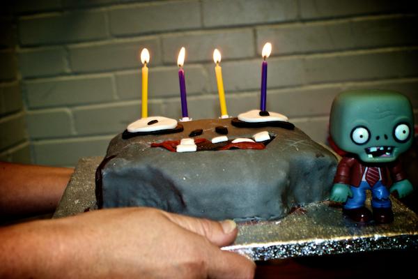 Zombie Birthday Cake Idea