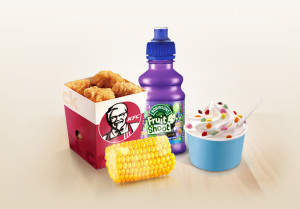 kids menu at KFC