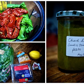 Chard and sunkiss tomato pesto